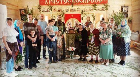 На праздничном Богослужении в честь Дня Святой Троицы