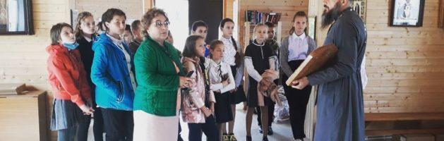 Сегодня в нашем храме побывали ученики пятого класса