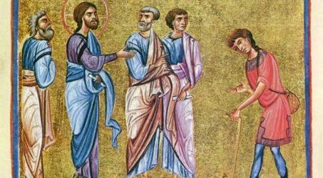 Литургия и крестный ход в Неделю о слепом
